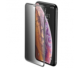 Apple iPhone XS 5.8 Baseus Full-Screen Curved Privacy Ekran Koruyucu Screen Protector (Cellular Dust Prevention)